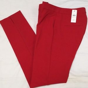 Ann Taylor Red Stretch Ankle Pants Size 2T